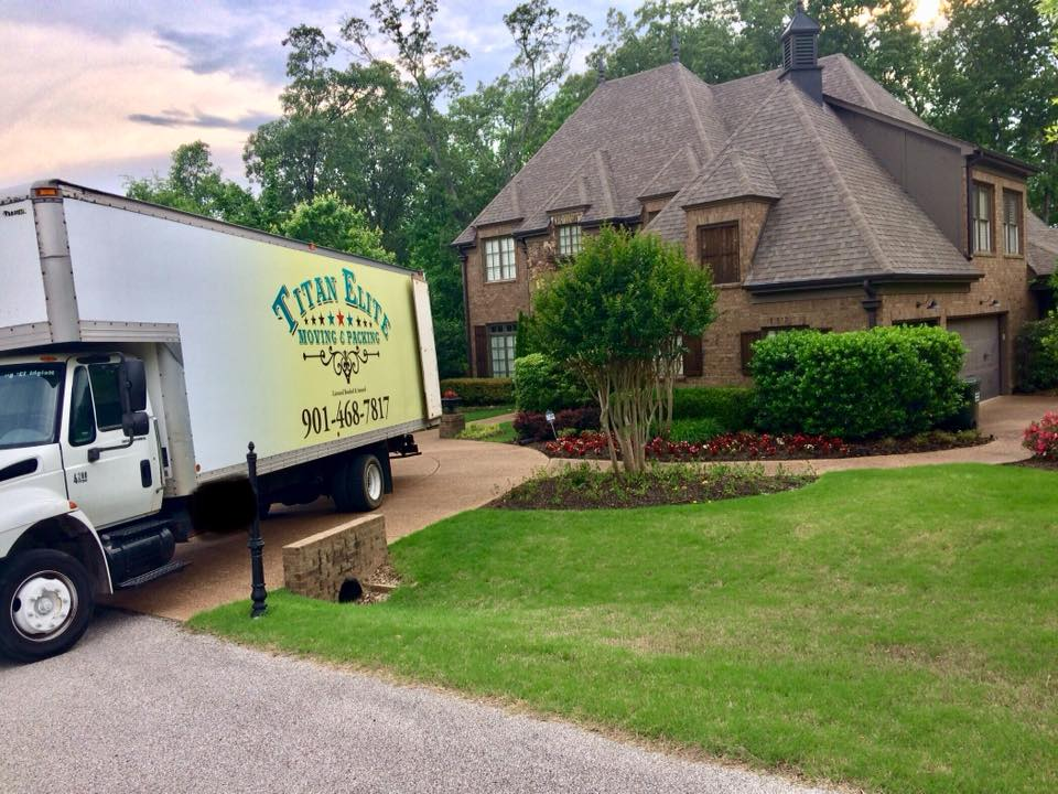 moving truck parked in driveway in Tennessee